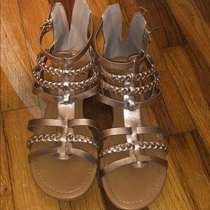 Bronze sandals